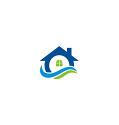 House water supply logo vector