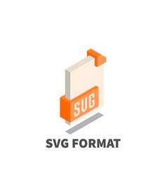 Image file format svg icon symbol vector