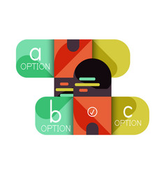 infographics option and step by step in rounded vector image