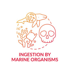 ingestion marine organisms concept icon vector image