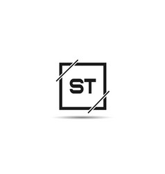 initial letter st logo template design vector image