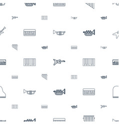 Jazz icons pattern seamless white background vector