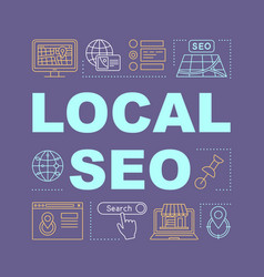 local seo word concepts banner vector image
