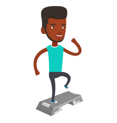 Man exercising on steeper vector