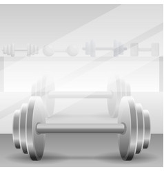 metal dumbbell concept background cartoon style vector image