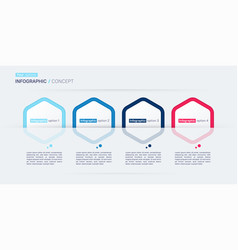 modern infographic concept template four vector image