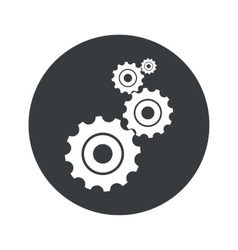 Monochrome round settings icon vector