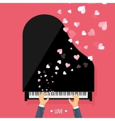 Musical flat background with vector image