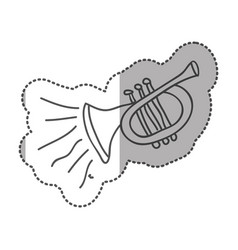 Musical trumpet instrument icon vector