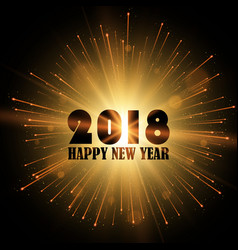 new year 2018 gold glitter background vector