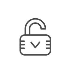 open lock line icon vector image