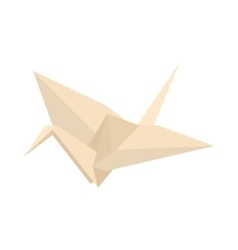 Origami icon cartoon style vector