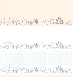 palma de mallorca hand drawn skyline vector image