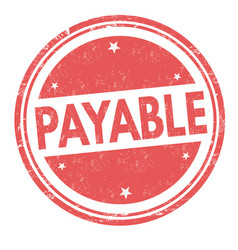 Payable sign or stamp vector