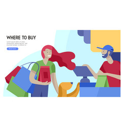 people shopping in supermarket woman in vector image