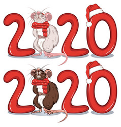 rat among text 2020 vector image