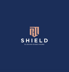 rq shield logo vector image