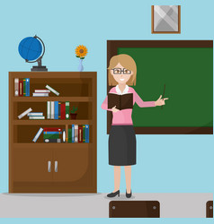 School classroom design vector