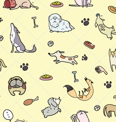 seamless Dogs pattern A vector image