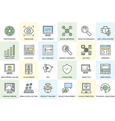 Seo and Development Icons 1 vector image