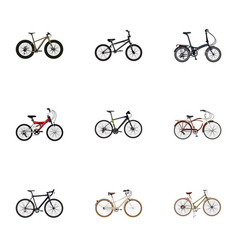set of realistic symbols with training vehicl vector image