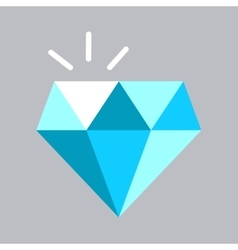 Shining blue diamond icon vector image