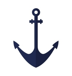 Ship anchor maritime frame vector