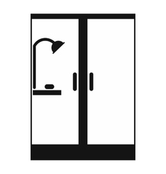 Shower cabin black simple icon vector