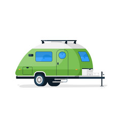 small rv trailer isolated camper vehicle vector image