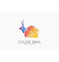 snail logo color logo creative logo design vector image