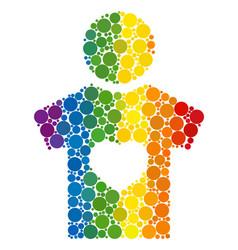 Spectrum boyfriend collage icon spheric dots vector
