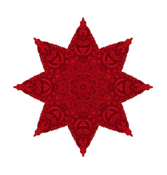 star red christmas symbol pattern vector image