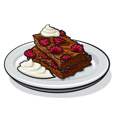 strawberry brownie vector image