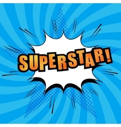 Superstar comic text vector