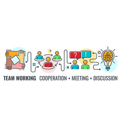 teamwork cooperation banner vector image