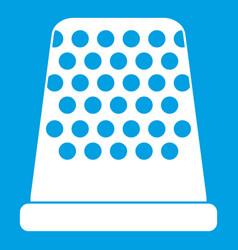 Thimble icon white vector