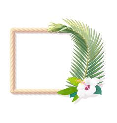 tropical frame clip art vector image