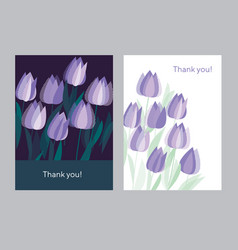 Tulip spring floral design element vector