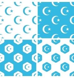 Turkey symbol patterns set vector image