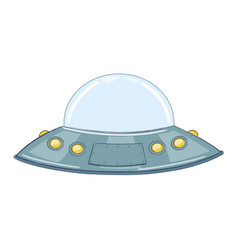 ufoflying saucer vector image