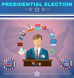 Usa Presidential Election Debates Banner vector