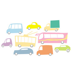 various cars on street vector image