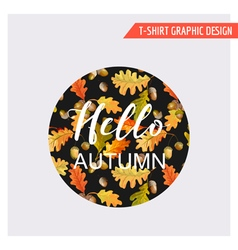 Vintage Autumn Floral Graphic Design - for Card vector