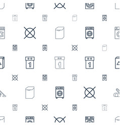 Washer icons pattern seamless white background vector