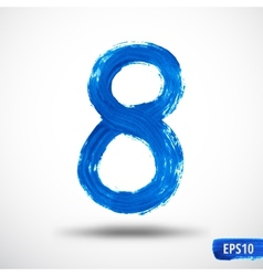 Watercolor Eight Number Grunge Background vector image