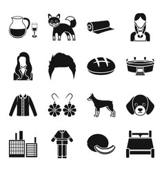 alcohol animal style and other web icon in black vector image