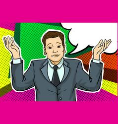 businessman in pop art style vector image