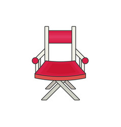 Directors chair flat vector