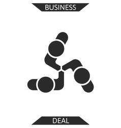 Handshake abstract logo design template vector image vector image