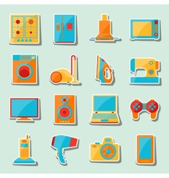 Set of home appliances and electronics icons vector image